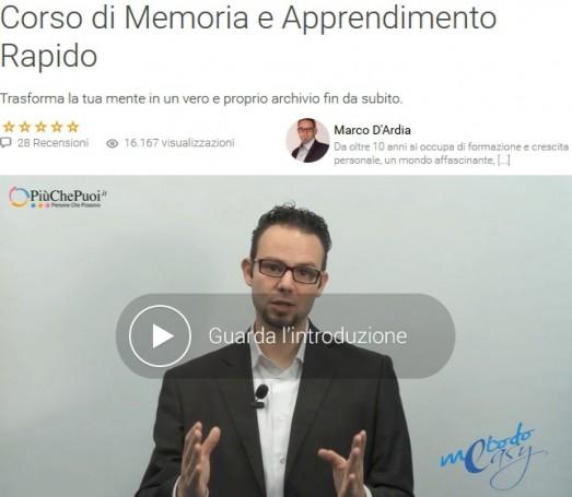 Corso di Memoria e Apprendimento Rapido