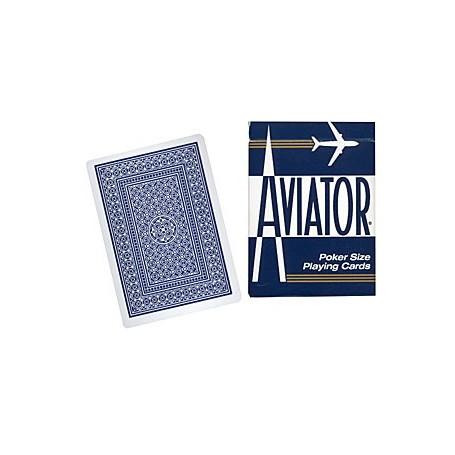 Cards Aviator Jumbo Index Poker Size (Blue)