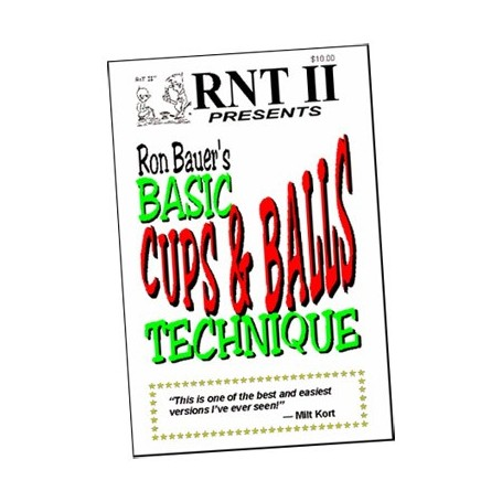 Basic Cups & Balls Technique book - Ron Bauer - Bussolotti