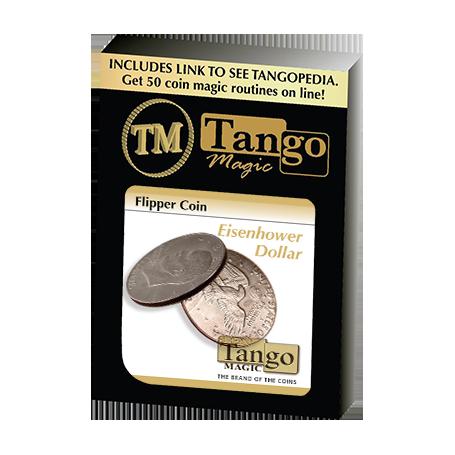 Flipper Coin Eisenhower Dollar (D0038) by Tango - Trick