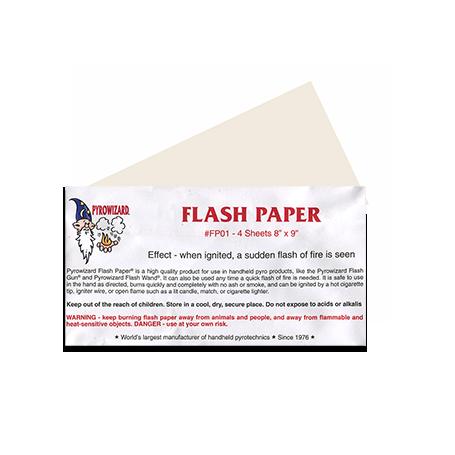 "Theatre Effects Pyrowizardâ""¢ Flash Paper Sheets - 4 sheets 8""x9"""