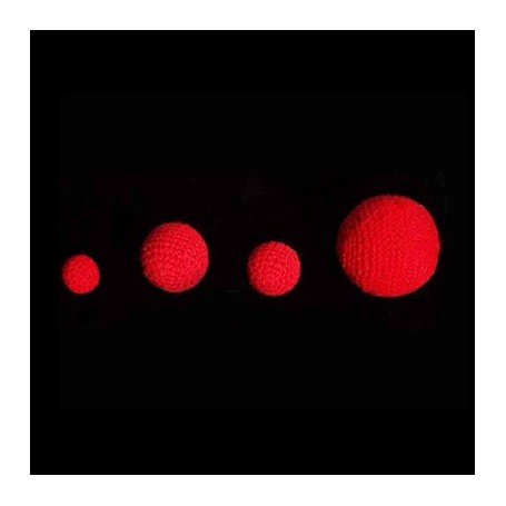1 inch Crochet Balls (Red) by Uday - Trick