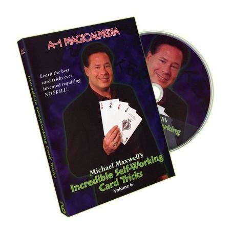 Incredible Self Working Card Tricks Volume 6 by Michael Maxwell - DVD