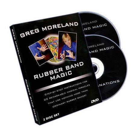 Rubber Band Magic (2 DVD Set) by Greg Moreland - DVD
