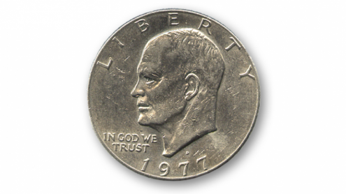 Eisenhower Dollar (Single Coin Ungimmicked) - Trick