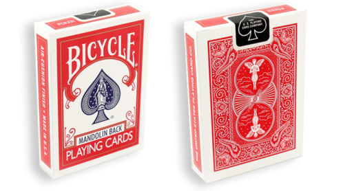 Bicycle Playing Cards 809 Mandolin Red by USPCC
