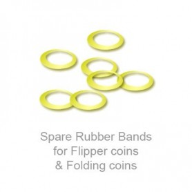 Spare Rubber Bands for Flipper coins & Folding coins - (25 per package) - Trick