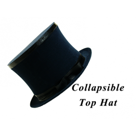 Cappello a Cilindro Gibus Collassabile by Premium Magic (Nero)