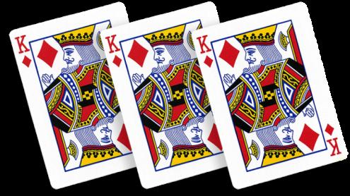 Carta Lampo Carta Poker Re di Quadri (10 pezzi) - Trick
