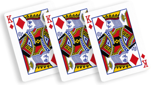 Flash Poker Card King of Diamonds (Ten Pack) - Trick