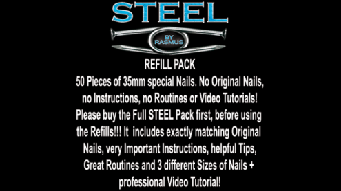 STEEL Refill Nails 50 ct. (35mm) by Rasmus - Trick
