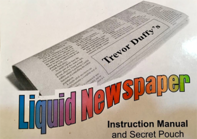 Liquid Newspaper by Trevor Duffy - Trick
