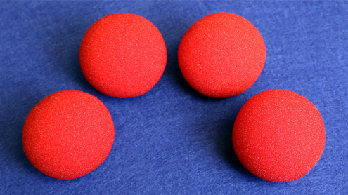 1.5 inch Regular Sponge Ball (Red) Bag of 4 from Magic by Gosh