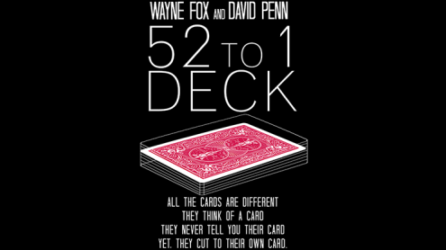 The 52 to 1 Deck Red (Gimmicks and Online Instructions) by Wayne Fox and David Penn - Trick