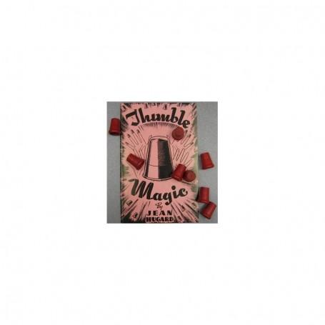 Set 8 ditali in legno colore rosso