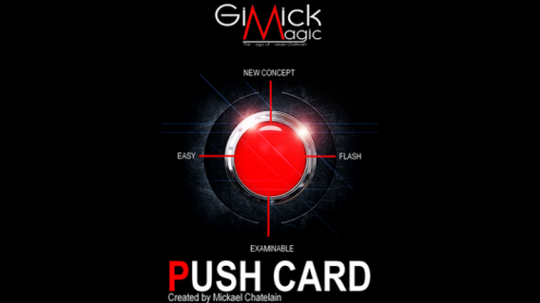 PUSH CARD (English) by Mickael Chatelain  - Trick