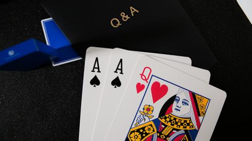 Q & A Jumbo Three Card Monte by TCC - Trick