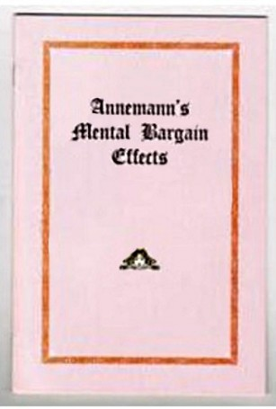 Mental Bargain Effects By Annemann - Libro