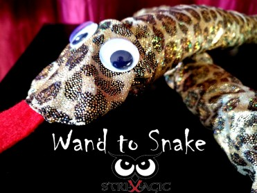 Wand to Snake by Strixmagic