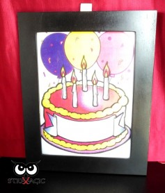 VISUAL COLORING (mod.3024) - Birthday's Cake + Frame