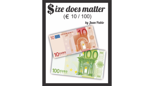 Size Does Matter EURO 10 to 100 (Gimmicks and Online Instructions) by Juan Pablo Magic