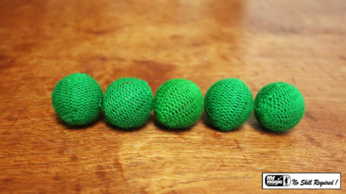 "Crochet 5 Ball combo Set (1""/Green) by Mr. Magic - Trick"