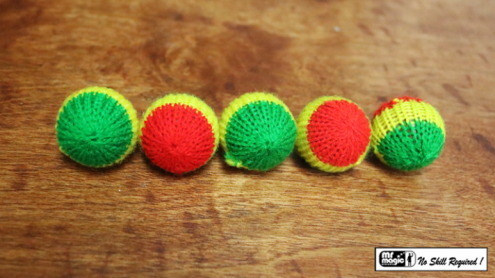 "Crochet 5 Ball combo Set (1""/Multi Color) by Mr. Magic - Trick"