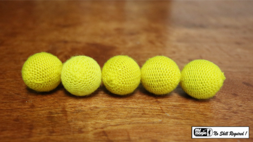 "Crochet 5 Ball combo Set (1""/Yellow) by Mr. Magic - Trick"