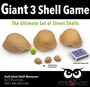Giant Three Shell Game with Green Ball