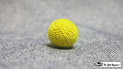 Crochet Ball .75 inch Single (Yellow) by Mr. Magic - Trick