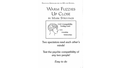 Warm Fuzzies Up Close by Mark Strivings - Trick con carte ESP