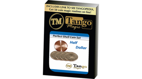 Perfect Shell Coin Set Half Dollar (Shell and 4 Coins D0201) by Tango Magic - Trick
