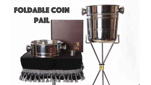 Foldable Coin Pail by Victor Voitko (Gimmick and Online Instructions) - Trick