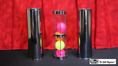 Cage and Cylinder Mystery (Brass) by Mr. Magic - Trick
