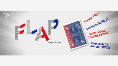 Modern Flap Card (Red Box Face to Court Card to Blue Back) by Hondo