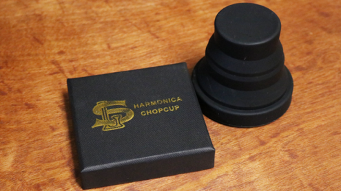 Harmonica Chop Cup Black 2 (Silicon) by Leo Smetsers - Trick
