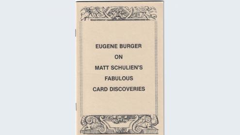 Eugene Burger on Matt Schulien's Fabulous Card Discoveries   - Book
