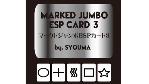 Marked Jumbo ESP Cards (Black) by Tejinaya Magic - Trick