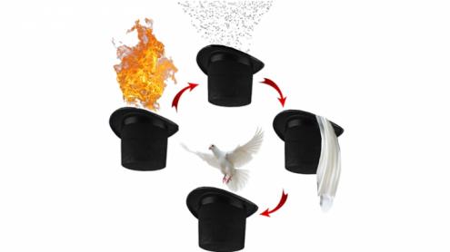 Magic Top Hat (4 effect) by 7 MAGIC - Trick