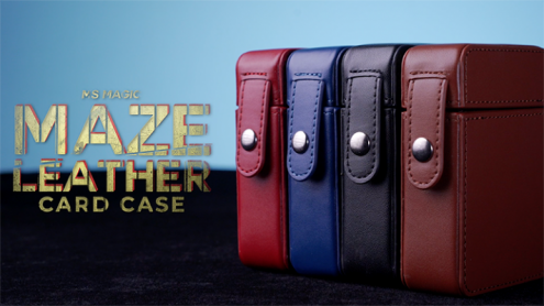 MAZE Leather Card Case (Black) by Bond Lee - Trick