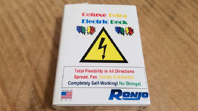 ELECTRIC DECK DELUXE - TETRA 4 COLOR FANNING by Ronjo - Trick