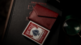 Luxury Leather Playing Card Carrier (Red) by TCC - Trick
