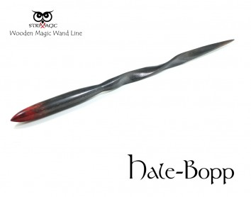 Hale-Bopp- Magic Wand by Strixmagic - Wood