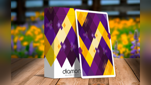 Diamon Playing Cards N° 14 Purple Star Playing Cards by Dutch Card House Company