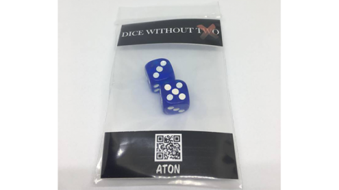 Dice Without Two CLEAR BLUE (2 Dice Set) by Nahuel Olivera Magic and Aton Games - Trick