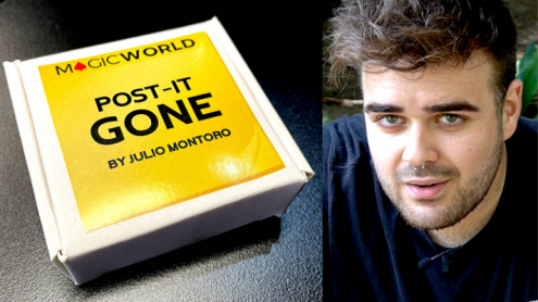 POST IT GONE (Gimmicks and Online Instructions) by Julio Montoro  and MagicWorld - Trick