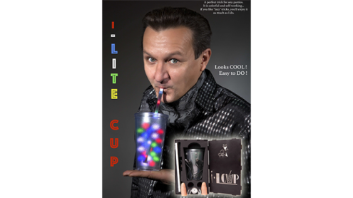 I-Lite Cup V2 (White) by Victor Voitko (Gimmick and Online Instructions) - Trick