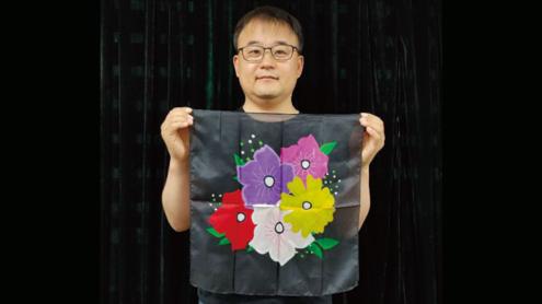 Silk Flower Design BLACK (18in) by JL Magic - Trick