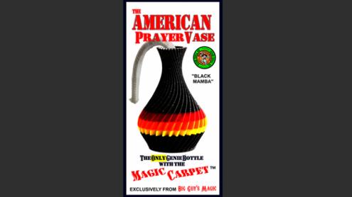The American Prayer Vase Genie Bottle BLACK MAMBA by Big Guy's Magic- Trick