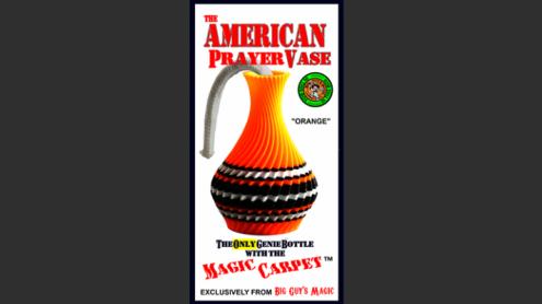The American Prayer Vase Genie Bottle ORANGE by Big Guy's Magic- Trick